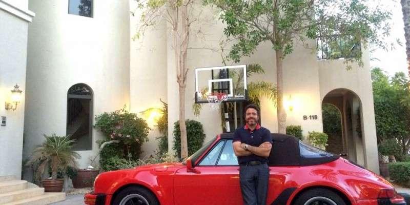 Onze Porsche 911 3.2 WTL M491 cabrio bij de nieuwe eigenaar in Dubai