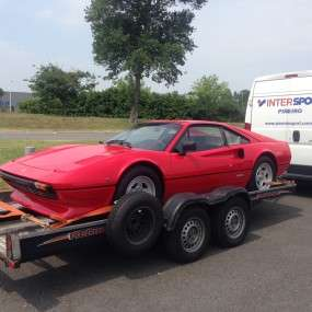 The Ferrari 308 GTBi to the new Spanish owner