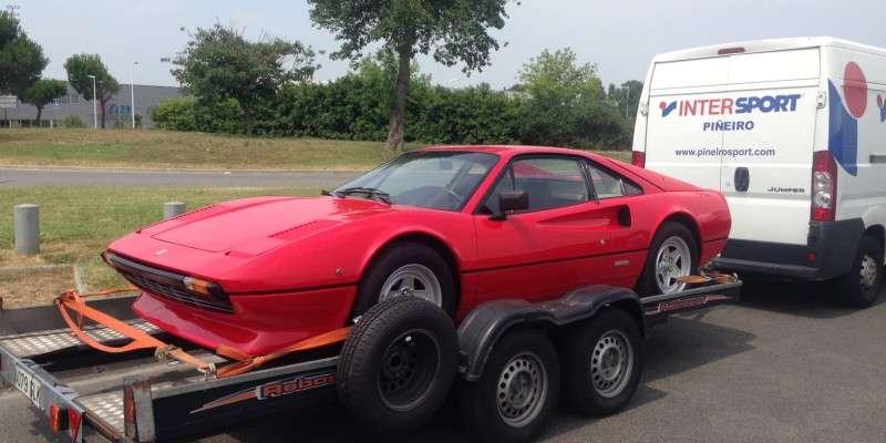 De Ferrari 308 GTBi naar de nieuwe Spaanse eigenaar