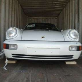 Our Porsche 964 with 8260km leaving for Hong Kong